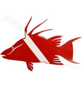Hogfish Dive Flag Sticker