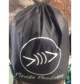 Black Florida Freedivers Drawstring Backpack
