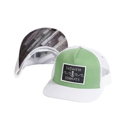 Saltwater Syndicate Wave Patch Trucker - Green / White