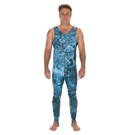 Riffe A Super comfortable fitting option for tropical water diving. Protects from sun andy jellyfish while blending in with nature's surroundings. Farmer John bottom includes added protection on the shins with flexible Lycra foot bands to prevent pant legs from