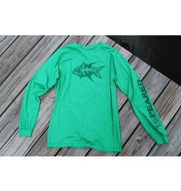 Speared Apparel This shirt was designed by Justin Barnhill from Louisiana. The shirt features 60/40 cotton polyester blend, making it extremely, CRAZY, comfortable! Normal long sleeve fit., , Speared Apparel works hard to bring you the best spearfishing t-shirts, hats, a