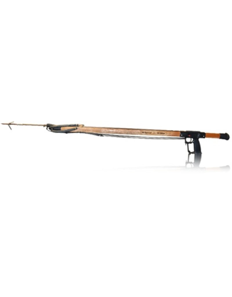 The A.B. Biller Speargun, built in the U.S.A. and in use all over the world, has proven itself as the foremost production speargun on today's market. The stainless steel trigger mechanism is unsurpassed in reliability and smooth action. The high grade gro