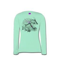 Inletville SPECIAL EDITION: Sea Grass Green <br> This HOGFISH design is proven awesome! Order yours today. It's cool, comfortable and stylish! <br> Look good and keep cool in this sporty performance crew that resists snags. <br> UPF 30 <br> Key Features: <br> 100% P