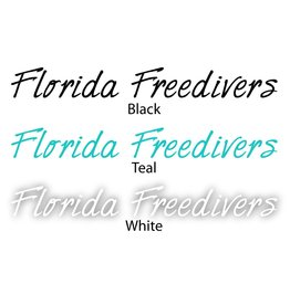 Florida Freedivers Florida Freedivers Name Sticker