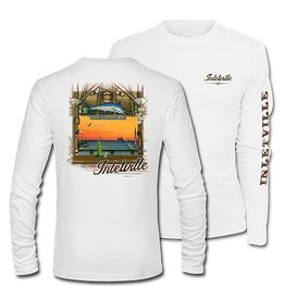 Inletville This Brand Inletville Boat Club design is paradise on a shirt! Order yours today. It's cool, comfortable and stylish! <br> Look good and keep cool in this sporty performance crew that resists snags. <br> UPF 50 <br> Key Features: <br> Pure Tech Wicking <b