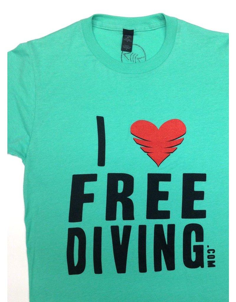Florida Freedivers I Love Freediving Shirt