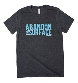 Descent Descent Abandon the Surface Spearfishing Tee in Dark Heather Grey. Super soft cotton and polyester blend.