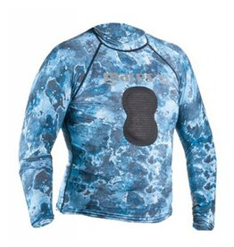 Mares Mares Rash Guard Blue Camo with Loading Pad