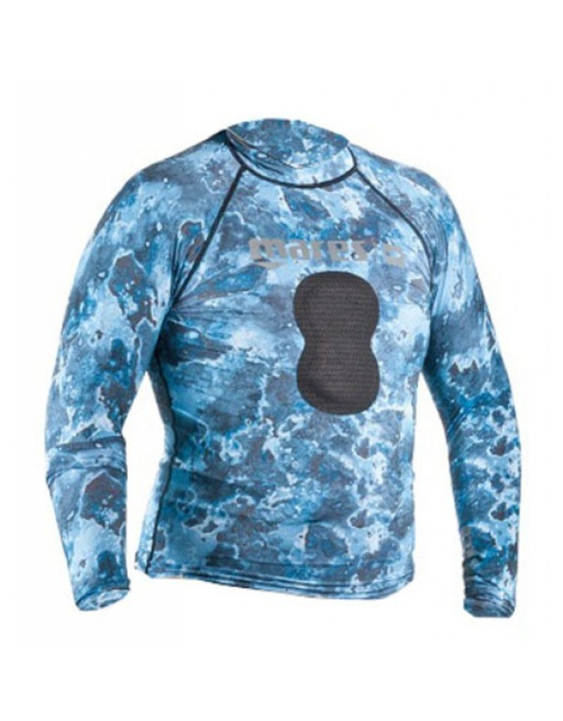 Mares Mares Rash Guard Blue Camo with Loading Pad