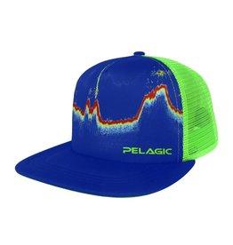 Pelagic Fishfinder Trucker Cap- Blue