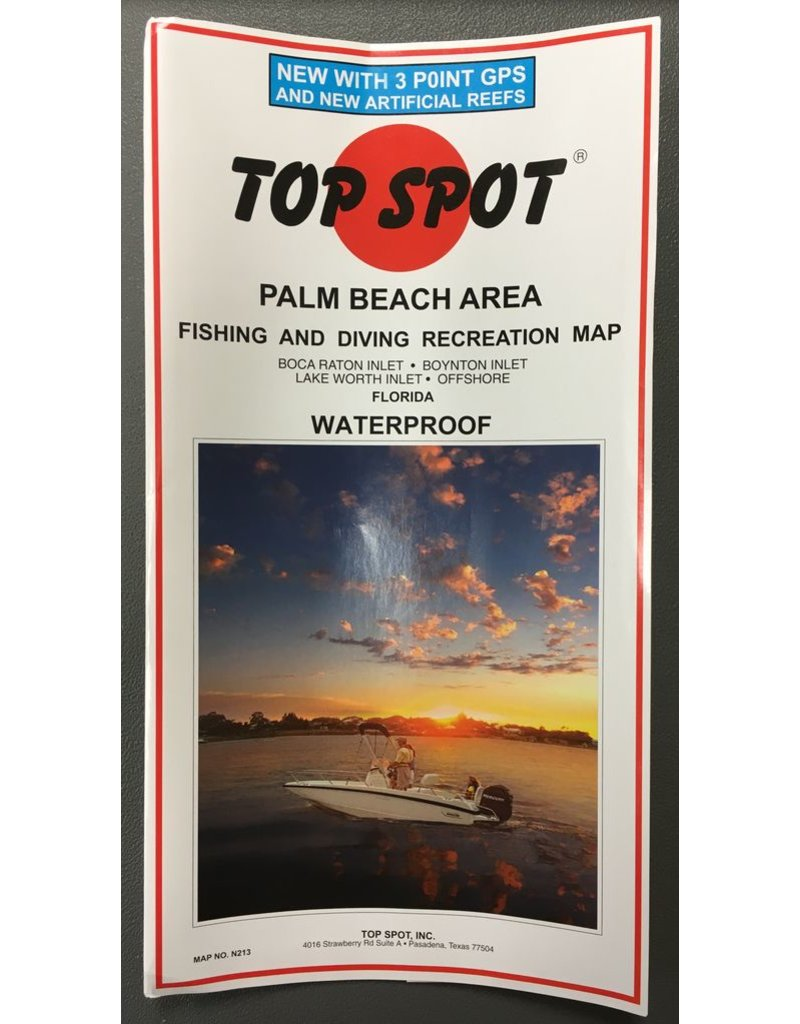 Palm Beach Top Spot Charts- Boca Raton to Lake Worth Inlet Offshore