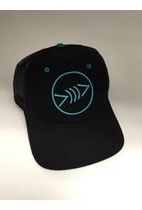Florida Freedivers Florida Freedivers Lucky Curve Hat, Black/Teal