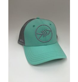 Florida Freedivers Florida Freedivers Lucky Curve Hat, Seafoam/Steel