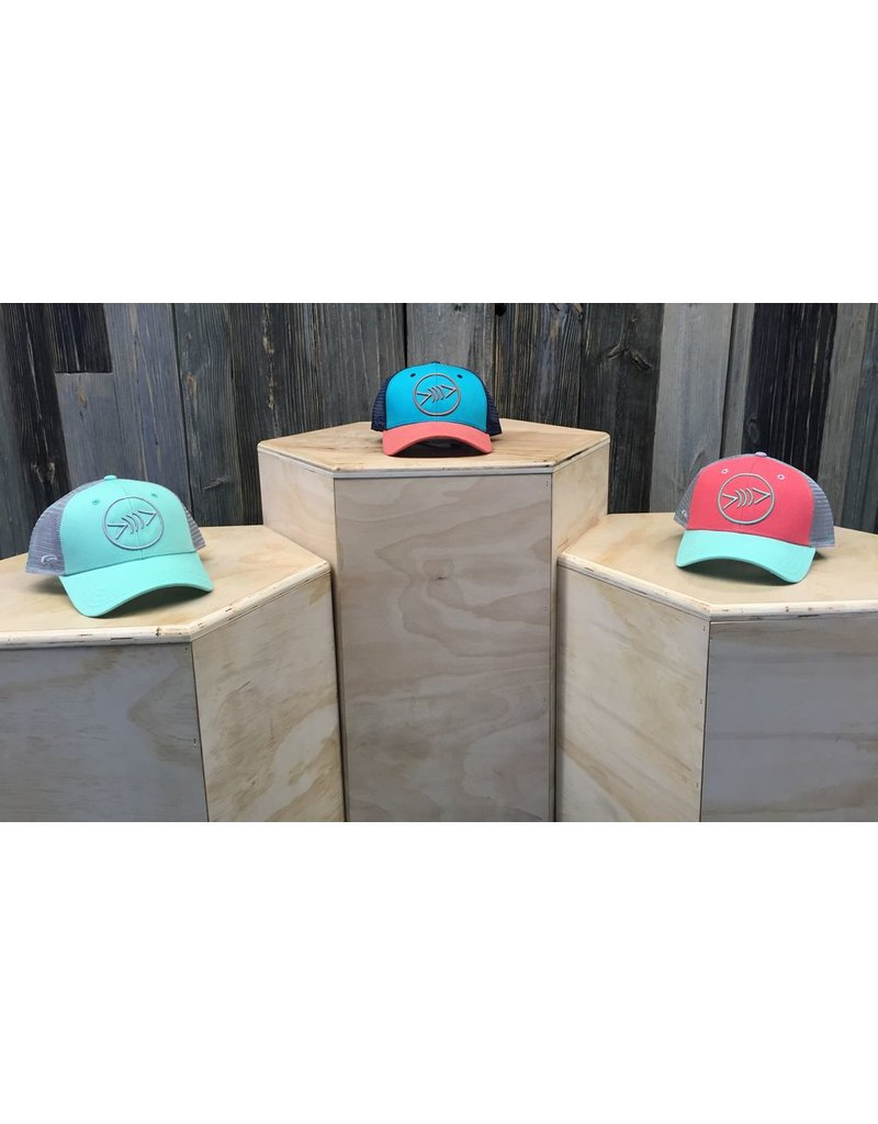Florida Freedivers Florida Freedivers Lucky Curve Hat, Seafoam/Steel