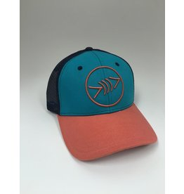 Florida Freedivers Florida Freedivers Lucky Curve Hat, Teal/Pink