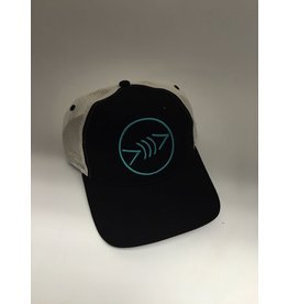 Florida Freedivers Florida Freedivers Lucky Curve Hat, Black/White/Teal