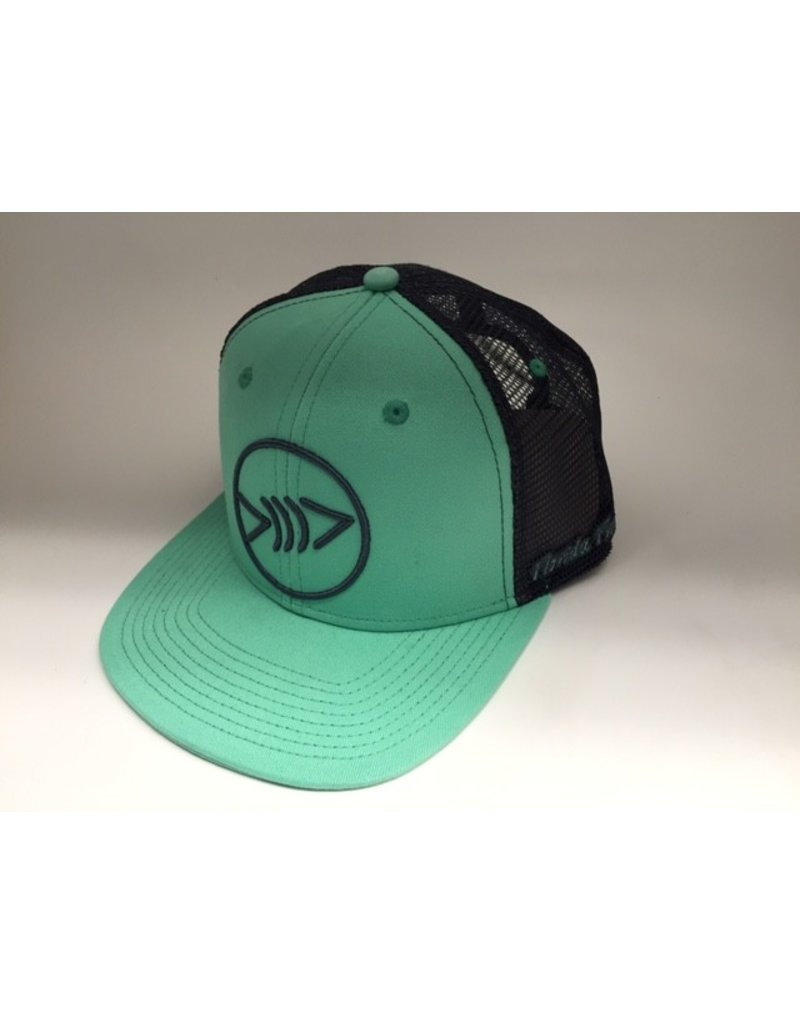 Florida Freedivers Florida Freedivers Lucky Flat Hat, Seafoam/Charcoal