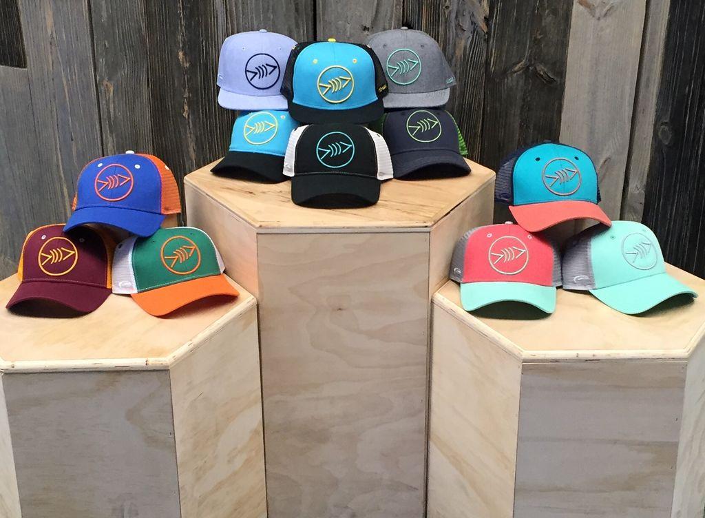 Florida Freedivers Florida Freedivers Lucky Flat Hat, Seafoam/Charcoal