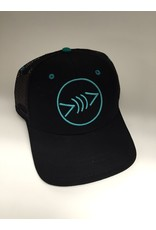 Florida Freedivers Florida Freedivers Lucky Flat Hat, Black/Teal