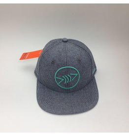 Florida Freedivers Florida Freedivers Lucky Flat Hat, Heather Gray/Seafoam