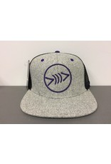 Florida Freedivers Florida Freedivers Lucky Flat Hat, Grey/Purple