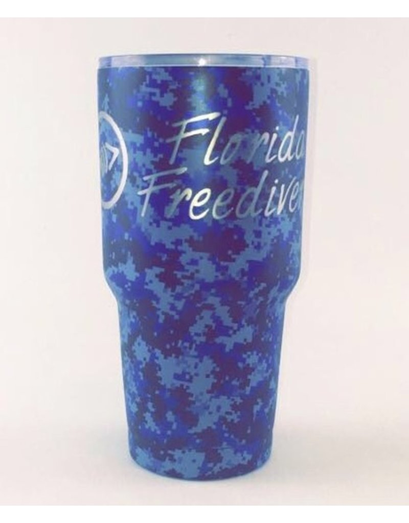 Florida Freedivers FLF Blue Camo Tumbler 30oz.