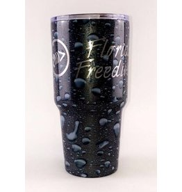 Florida Freedivers FLF Water Drops Tumbler 30oz