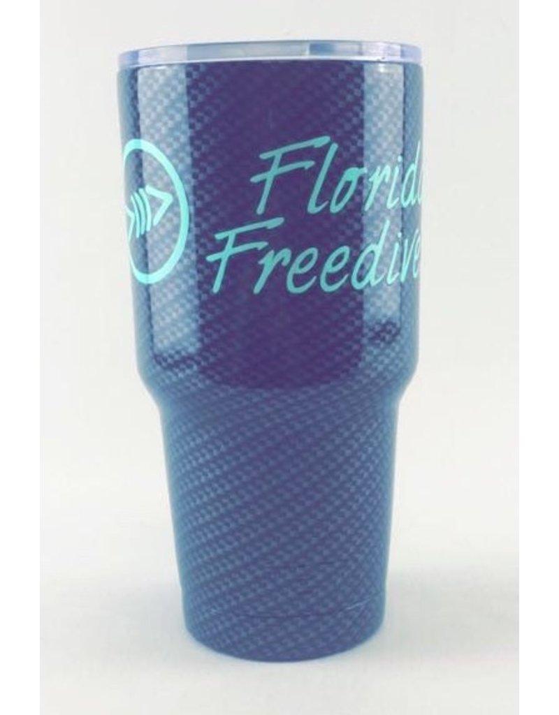 Florida Freedivers FLF Carbon Seafoam Tumbler 30oz