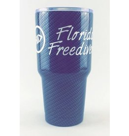 Florida Freedivers FLF Carbon White Tumbler 30oz.