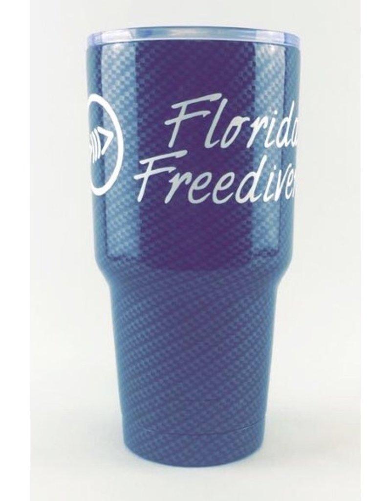 Florida Freedivers FLF Carbon White Tumbler 30oz.