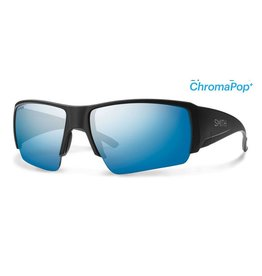 Smith Smith Captain's Choice Matte Black Frame w/ Chromapop Plus Polarized Blue Mirror Lens