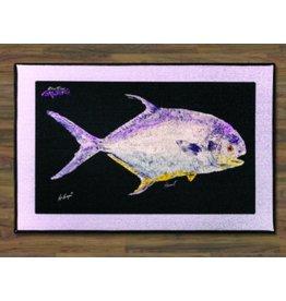 "Realfish Gyotaku Series: ""Permit"" Floor Mat 24x36"