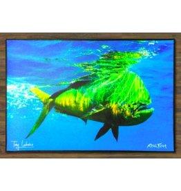 """Realfish H20 Series: Mahi Mahi """" Cruising """" Floor Mat 24x36"""