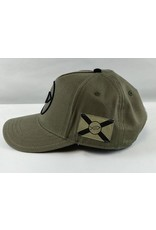 Florida Freedivers Florida Freedivers Lucky FLorida Curve Hat, Olive Black Logo