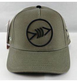 Florida Freedivers Florida Freedivers Lucky FLorida Curve Hat, Olive Black Logo