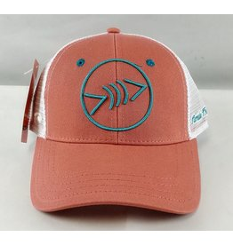 Florida Freedivers Florida Freedivers Lucky Hat, Coral Turquoise Logo