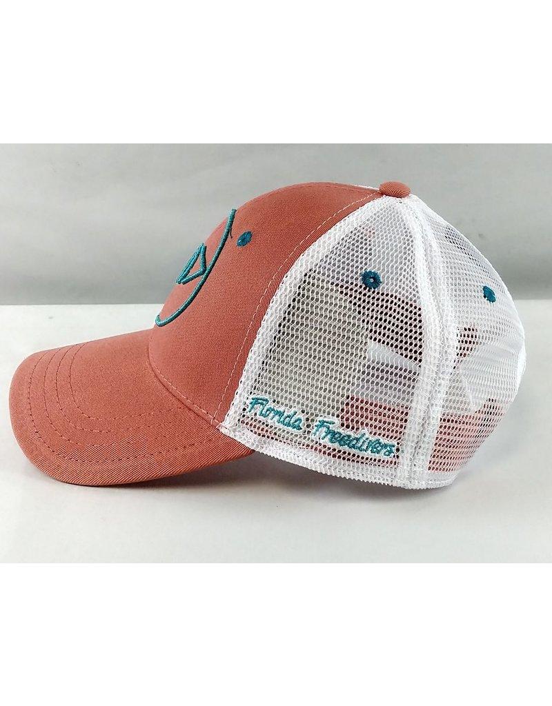 Florida Freedivers Florida Freedivers Lucky Hat, Coral Turquoise Logo