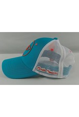 Florida Freedivers Florida Freedivers Lucky Curve Hat, Turquoise Coral Logo