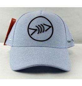 Florida Freedivers Florida Freedivers Lucky Curve Hat, Blue Fade Black Logo