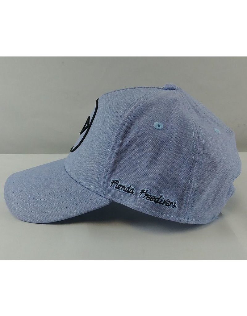 Florida Freedivers Florida Freedivers Lucky Curve Hat, Blue Fade Black Logo
