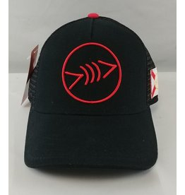 Florida Freedivers Florida Freedivers Lucky FLorida Curve Hat, Black Red Logo