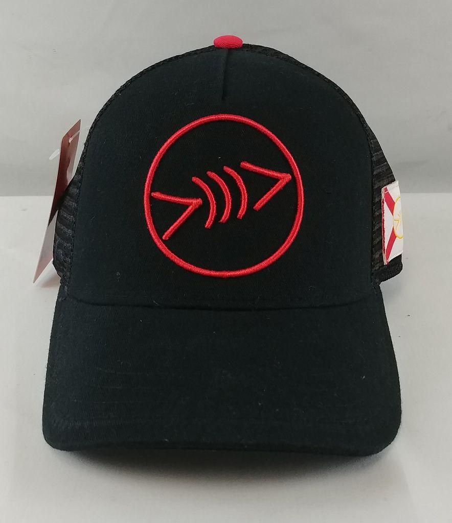 Florida Freedivers Florida Freedivers Lucky FLorida Curve Hat, Black Red Logo