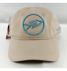 Florida Freedivers Florida Freedivers Lucky Dad Khaki Curve Hat, Turquoise Logo