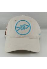 Florida Freedivers Florida Freedivers Lucky Dad  Curve Hat, Cream Turquoise