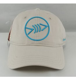 Florida Freedivers Florida Freedivers Lucky Dad  Curve Hat, Cream Turquoise