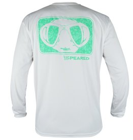 Speared Apparel Speared Camo Mask UV White Performance Shirt