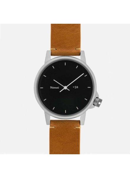 Miansai m24 ii Black/Tan Strap Watch