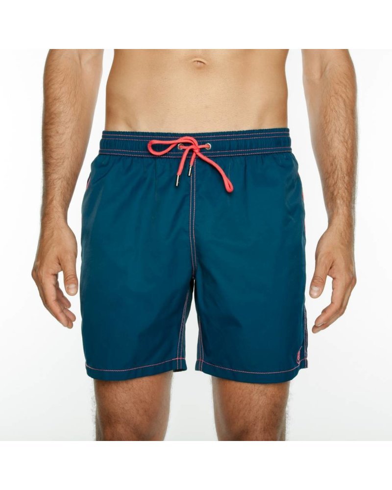 Mr. Swim Navy Contrast with Coral