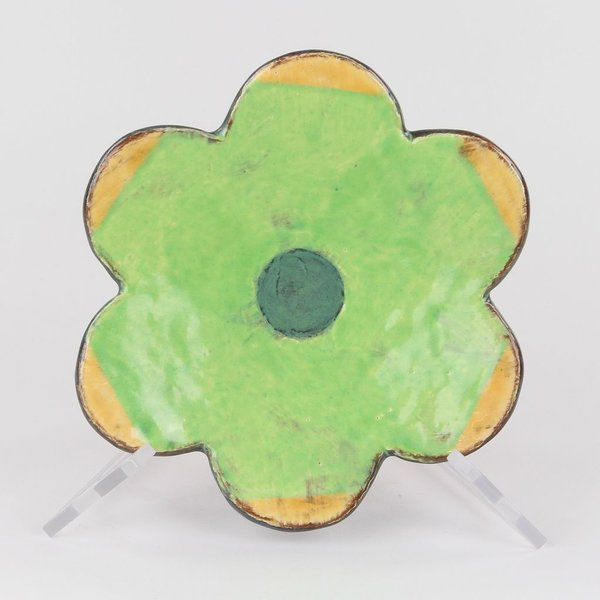 "Holly Walker, Mazurka Plate, terra cotta, glaze, 1.75""h x 8"" dia"