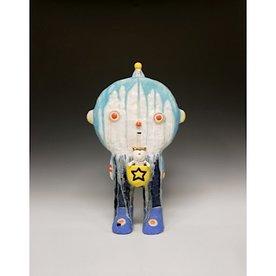 "Taehoon Kim Taehoon Kim, fired clay, glaze, 18 x 10.25 x 4"""